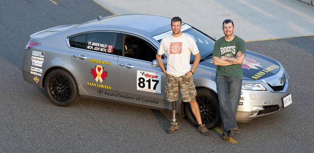 Canadian Forces veterans Jody Mitic and Andrew Knisley