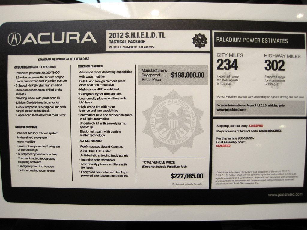 Making a acura honda dealer msrp window stickers recreation need input acura tsx forum