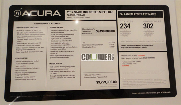 Avengers NSX Roadster Priced at $9,198,000 – Acura Connected