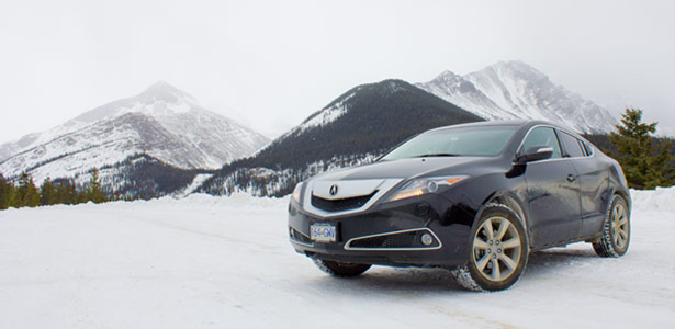 The 2012 Acura ZDX at Icefields Parkway