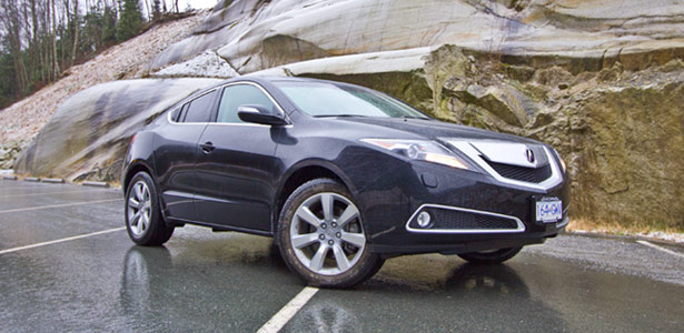 The 2012 Acura ZDX on the Sea to Sky Highway