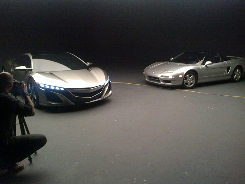 Old and New NSX Meet for a Photoshoot – Acura Connected
