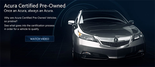 Acura Certified Pre-Owned Vehicle
