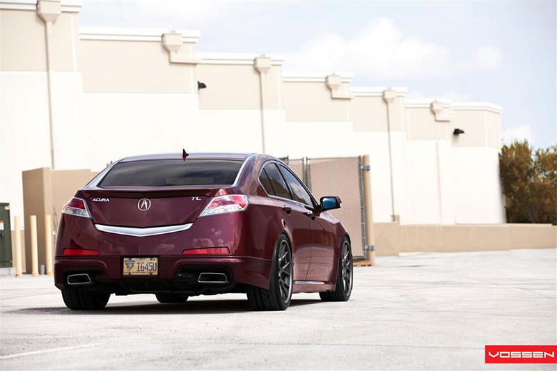 Vossen Wheels Brian S Basque Red Pearl 2010 Acura Tl