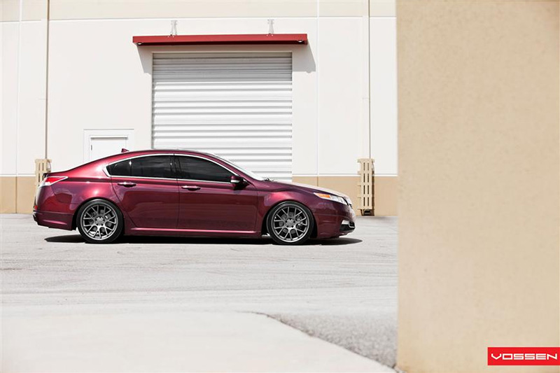 vossen wheels brian s basque red pearl 2010 acura tl. Black Bedroom Furniture Sets. Home Design Ideas