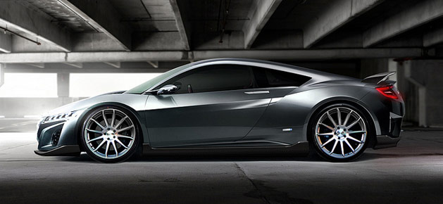 Rendered Acura Nsx Concept On Concavo Wheels Acura