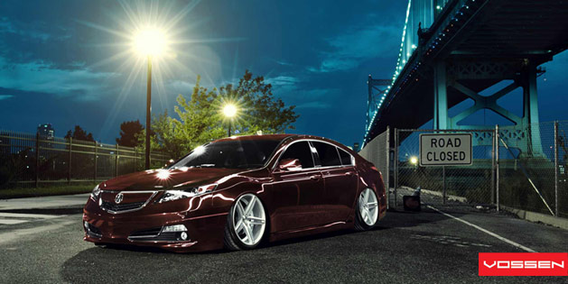 Acura TL on Vossen VVSCV5 Wheels