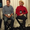 Jason Isaacs and January Jones in the Acura Studio