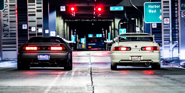 Acura NSX and Intergra Type R