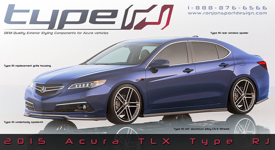 Rendered: RonJon Sport Design 2015 Acura TLX Type RJ – Acura Connected
