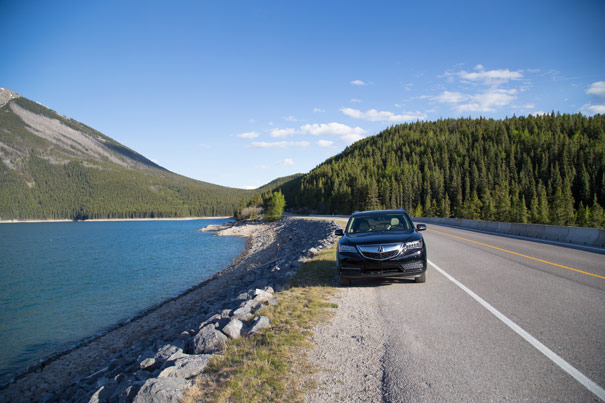 2014 Acura MDX - Lake Minnewanka, Banff National Park
