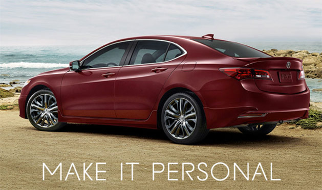 2015 Acura TLX in Basque Red Pearl II with Accessories