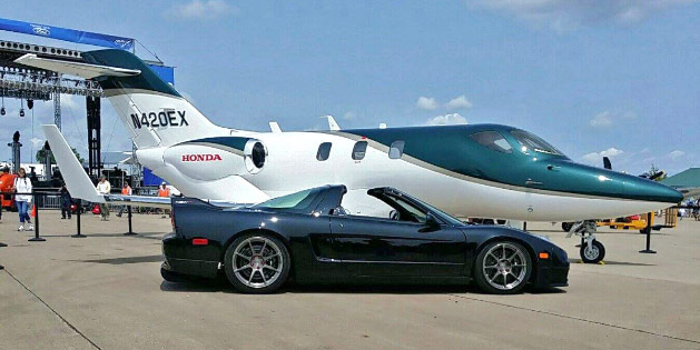 HondaJet and NSX