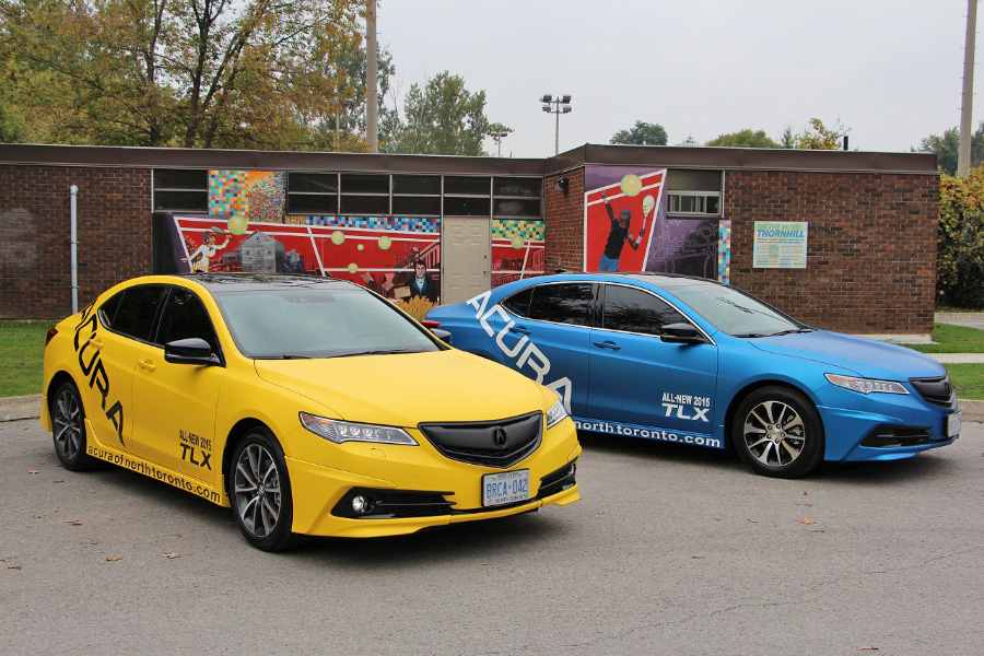 Custom Rdx >> Acura TLX Full Wrap in Matte Blue and Yellow – Acura Connected