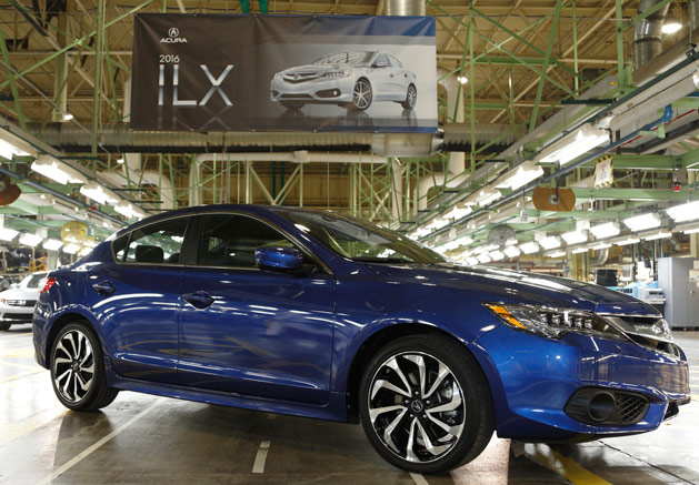 2016 Acura ILX at Marysville, Ohio Auto Plant