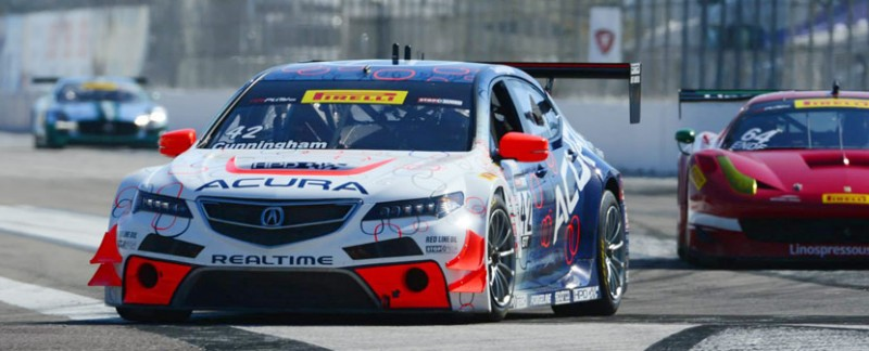 RealTime Racing Acura TLX GT at St. Petersburg