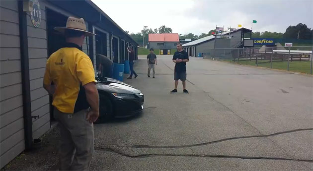 Black Acura NSX Prototype Spied at Mid-Ohio Sports Car Course