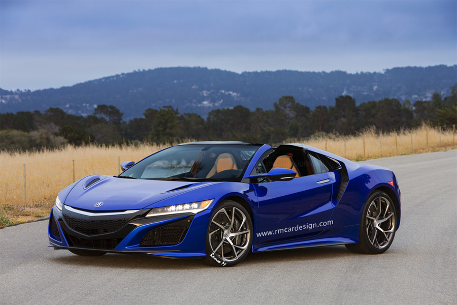 Rendered: Acura NSX Roadster in Nouvelle Blue Pearl – Acura ...