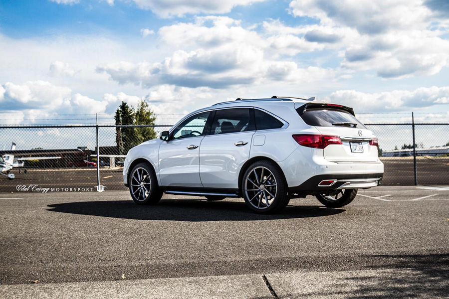 white diamond pearl 2016 acura mdx on vossen 22 cvt. Black Bedroom Furniture Sets. Home Design Ideas