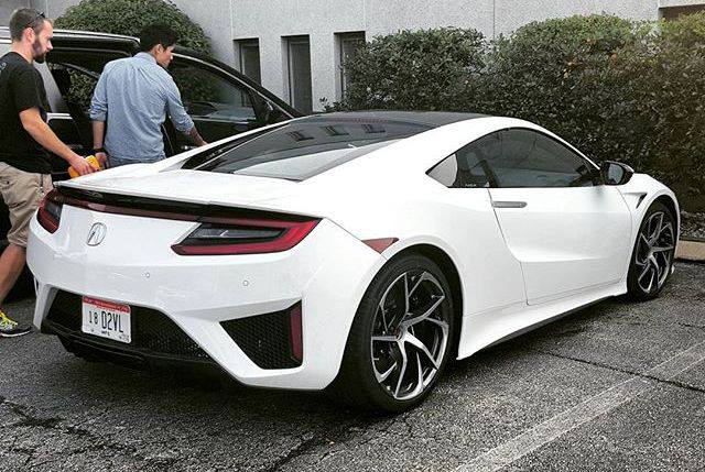 Snapshots: Next Generation Acura NSX in White – Acura ...