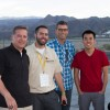Ted Klaus, Tyson Hugie, Matt Staal, and Michael Cao at Palm Springs Air Museum. Photo by Jhae Pfenning