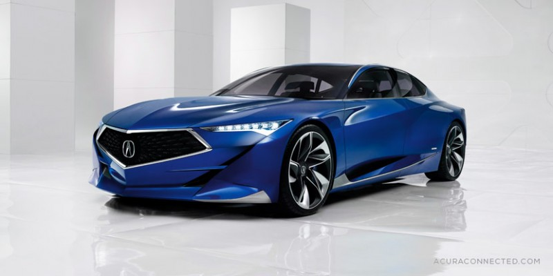 Rendered: Acura Precision Concept in Blue