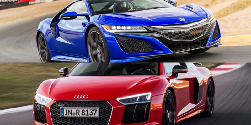 Motor Trend: 2017 Acura NSX vs 2017 Audi R8 Design Comparison