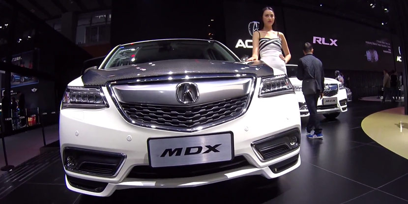 Acura China 2016 MDX with Carbon Fiber Hood and ...