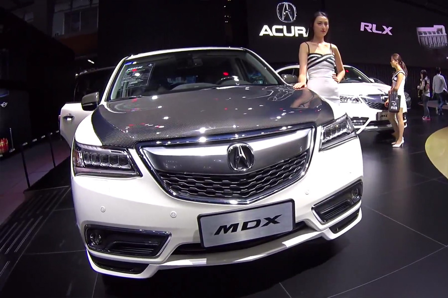 snapshots acura china s 2016 mdx with accessories acura. Black Bedroom Furniture Sets. Home Design Ideas