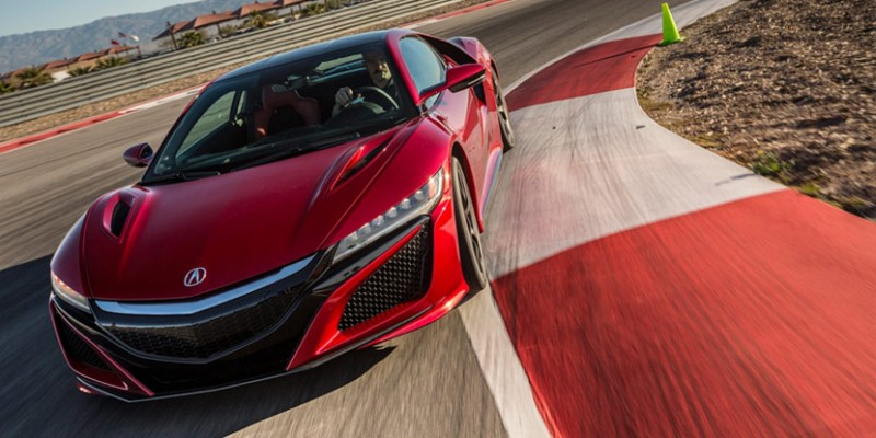 2017 Acura NSX at the Thermal Club race track