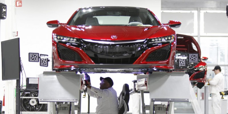 2017 Acura NSX Production at the Performance Manufacturing Center