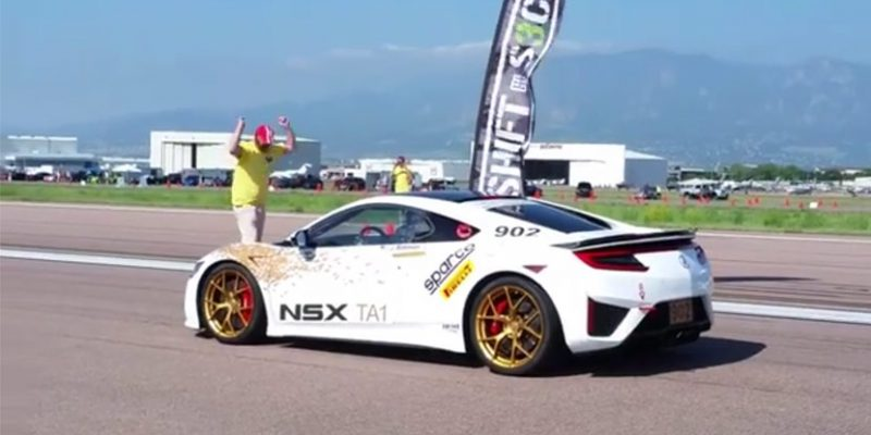 Pikes Peak Time Attack 1 Acura NSX Launch