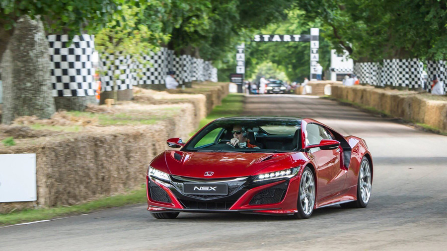 2017 nsx at the 2016 goodwood festival of speed acura connected. Black Bedroom Furniture Sets. Home Design Ideas