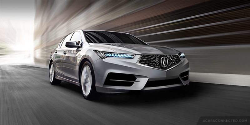 Rendered: 2017 Acura RLX with Diamond Pentagon Grille