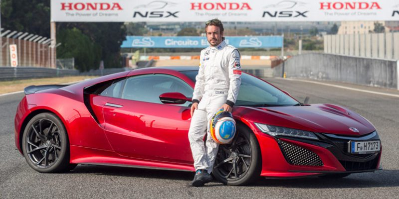 Fernando Alonso Drives the 2017 NSX at Circuito Estoril