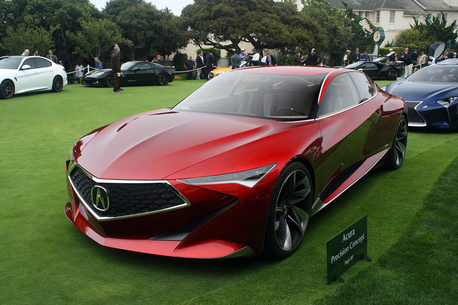 Snapshots acura precision concept at pebble beach concours d elegance acura connected - Pebble beach car show ...