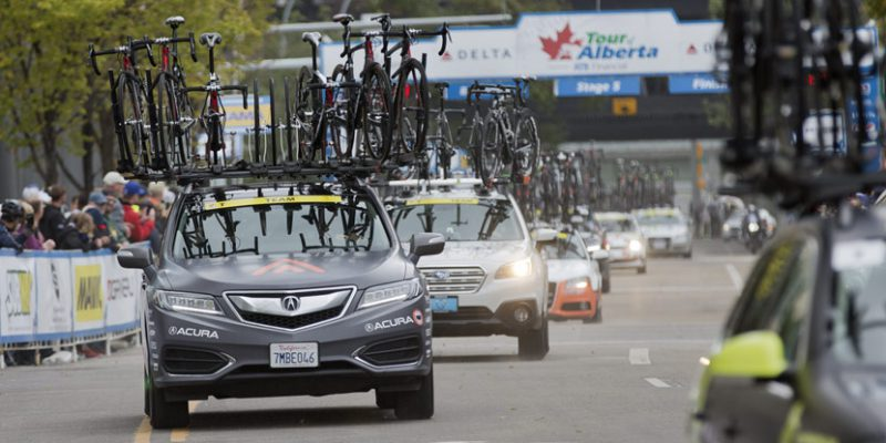 Rally Cycling Acura RDX at Tour of Alberta