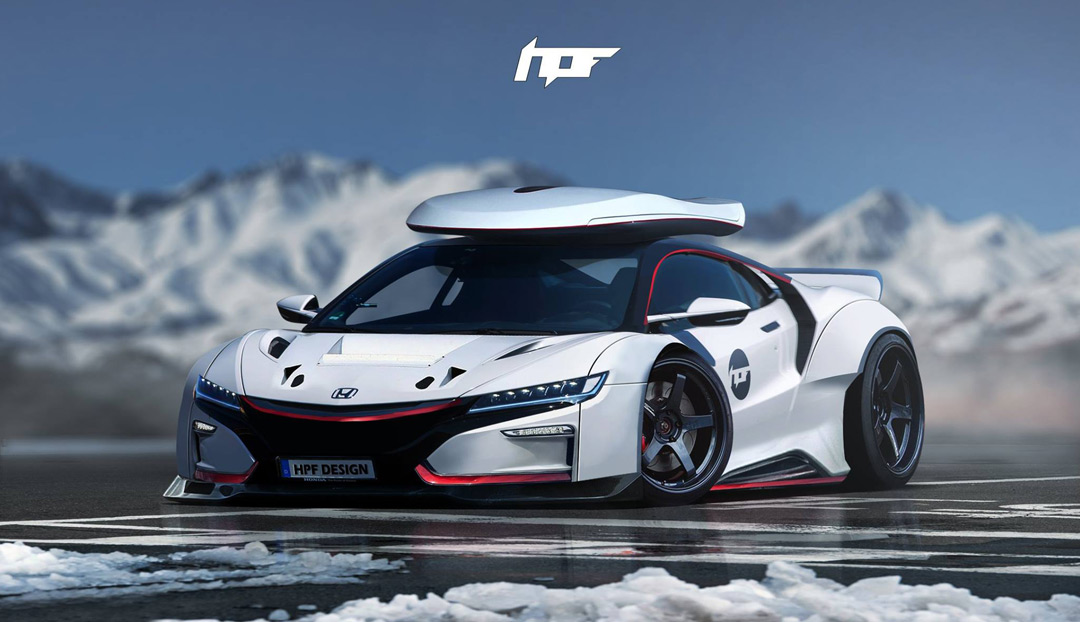 Winterized Widebody 2017 NSX with Roof Box – Acura Connected