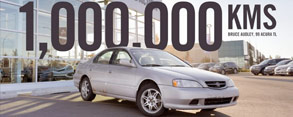 Bruce Audley's 1999 Acura TL Reaches 1,000,000 Kms