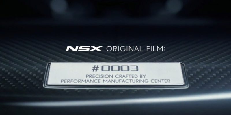 """NSX Originals"" Gives Each New NSX its Own Unique Video"