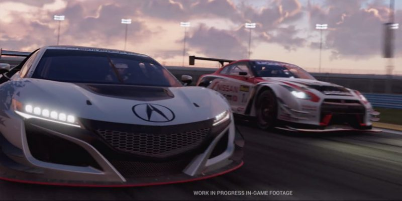 2017 Acura NSX, NSX GT3 Featured in Project CARS 2 Trailer