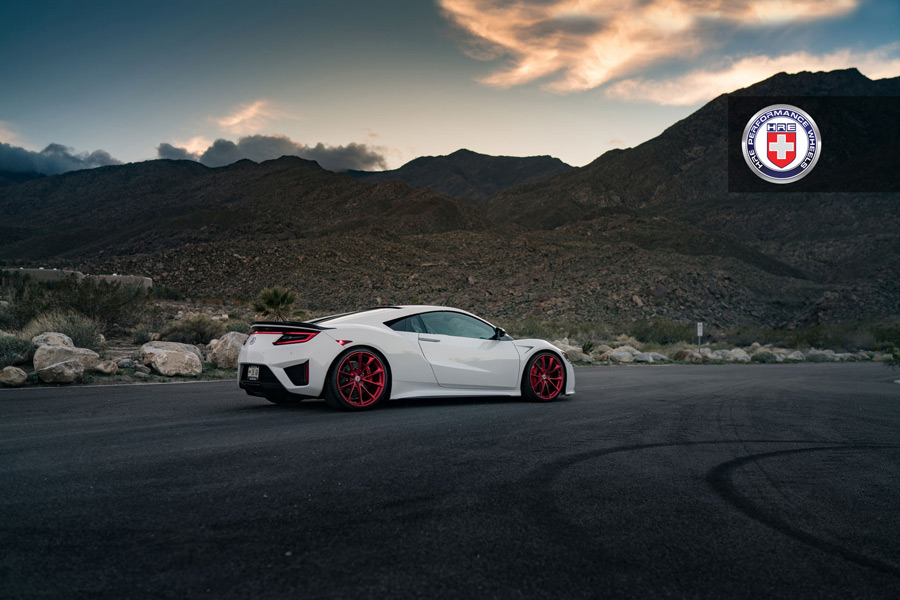 Gallery 2017 Acura Nsx On Frozen Red Hre P204 Wheels