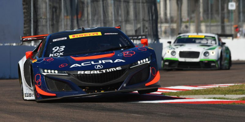 RealTime Racing Acura NSX GT3 2017 Debut Race Report