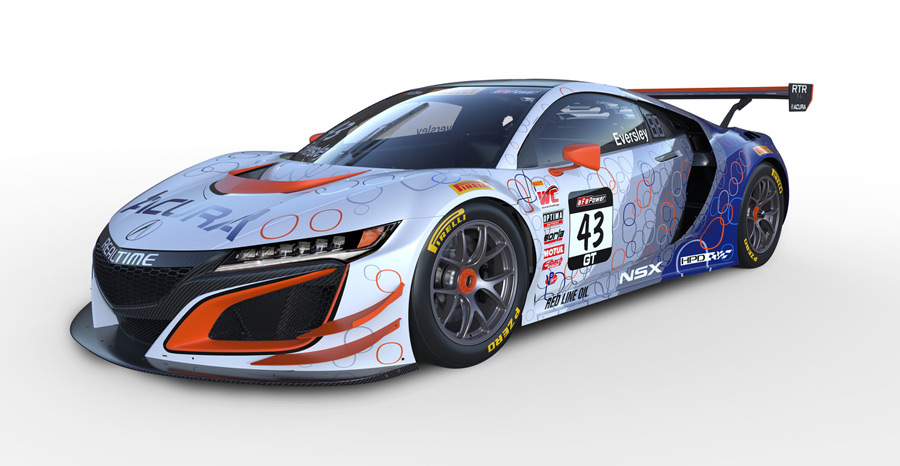 RealTime Acura Unveils NSX GT3 Liveries – Acura Connected