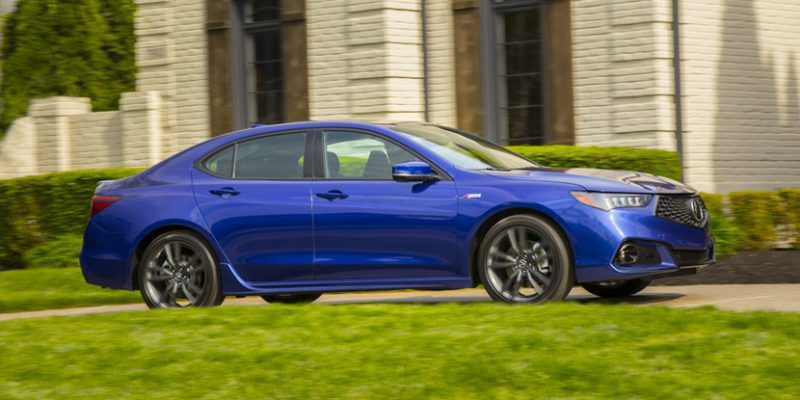 2018 Acura TLX V6 A-Spec in Still Night Blue Pearl