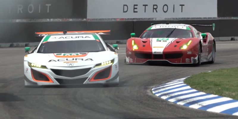 Katherine Legge and Andy Lally win at Belle Isle in No. 93 Acura NSX GT3
