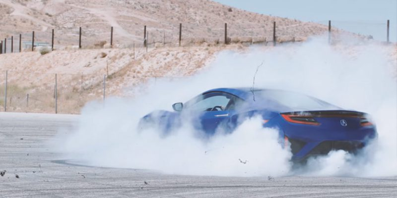 2017 Acura NSX Donuts with Katherine Legge