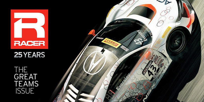 RealTime Racing, Acura NSX GT3, Featured in RACER Magazine