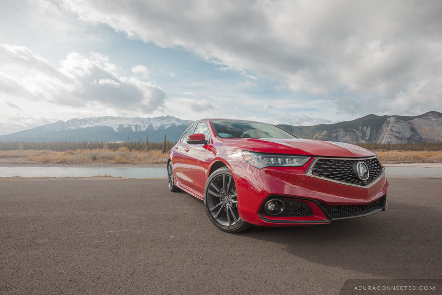 2018 Acura TLX in Jasper, Alberta - Along the Athabasca River
