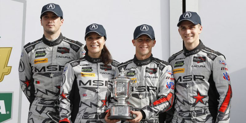 Michael Shank Racing Acura NSX GT3 drivers